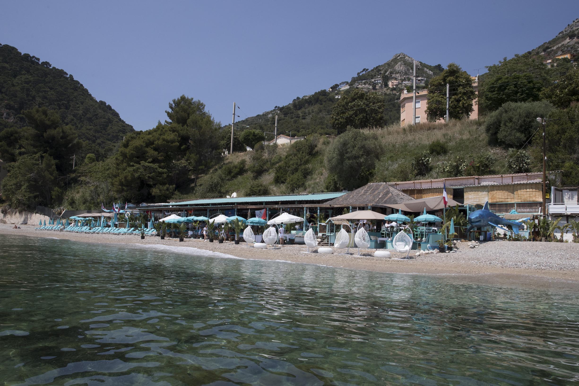 Anjuna, beach restaurant by the Mediterranean Sea.